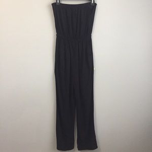 Forever 21 woven jumpsuit with pockets and elastic